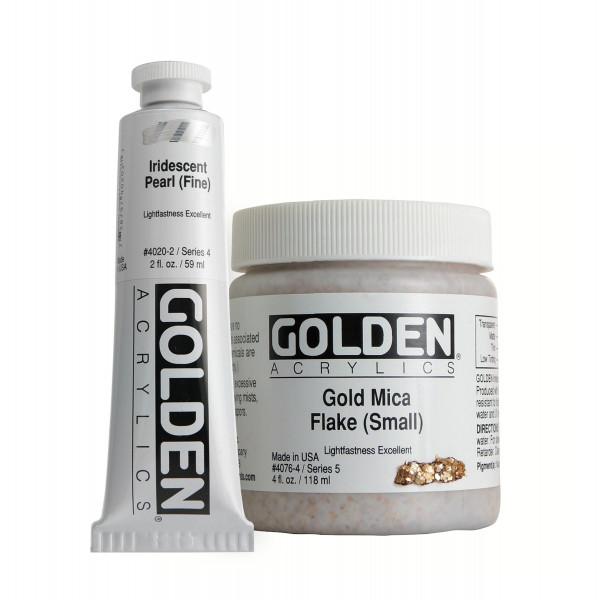 Golden Heavy Body Acrylics   Iridescent Colors