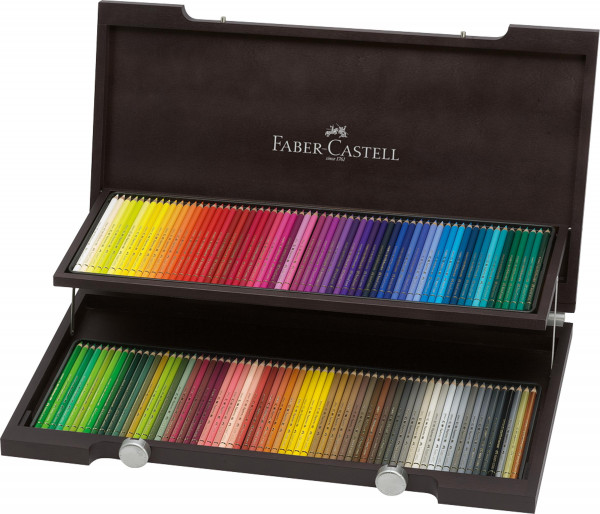 Faber-Castell Polychromos Gesamtsortiment   Holzkoffer