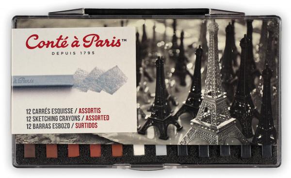Conté à Paris Esquisse Carrés Assortis