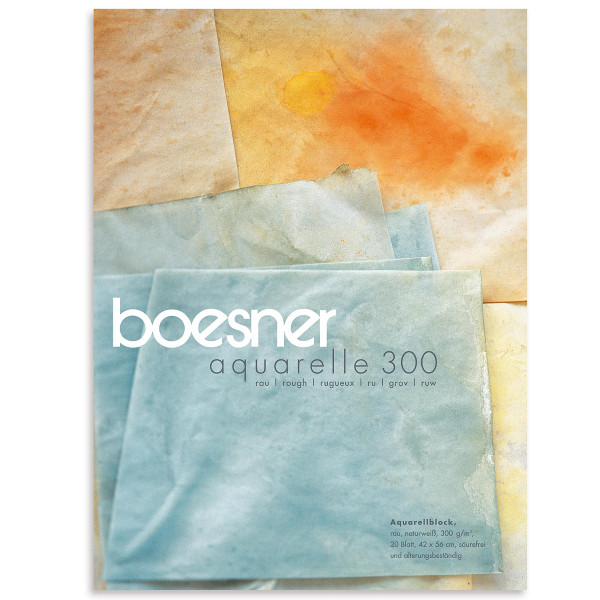 boesner – Aquarelle 300 Professionellt akvarellblock, grovt