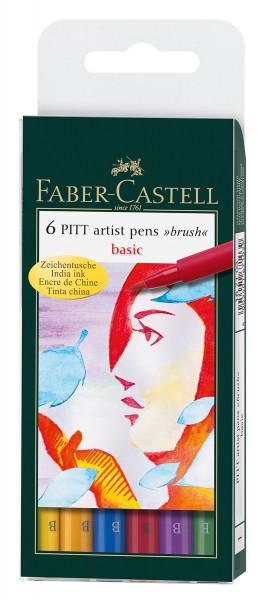 Faber-Castell Pitt Artist Pen Brush-Set   6 Stifte