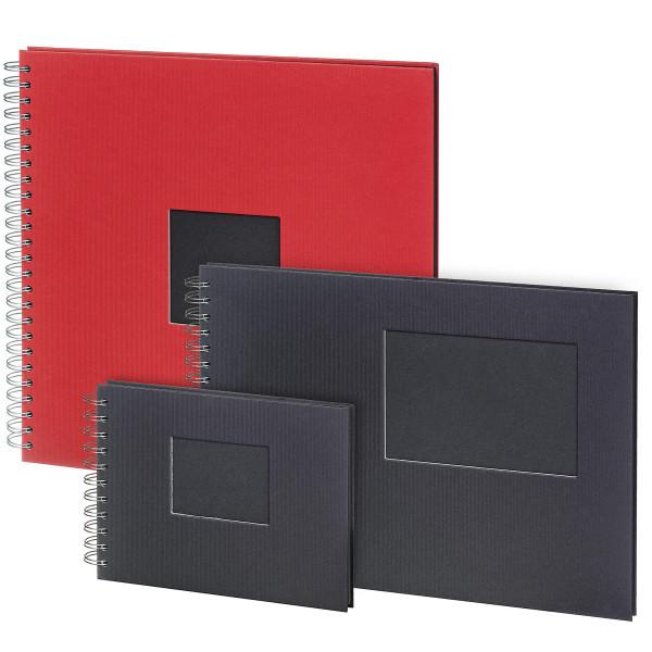 Tiefschwarzer Fotokarton, mit Fenster   boesner Fotoalbum/Scrapbook