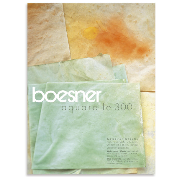 boesner – Aquarelle 300 Professionellt akvarellblock, matt